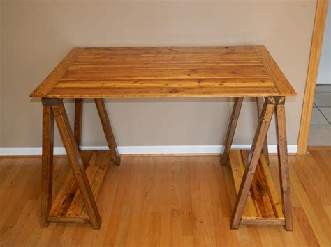 white sawhorse desk diy projects