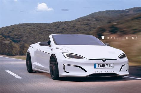 tesla s roadster tesla model s convertible rendered could make up for the