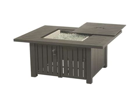 Sherwood Rectangular Enclosed Fire Pit Table