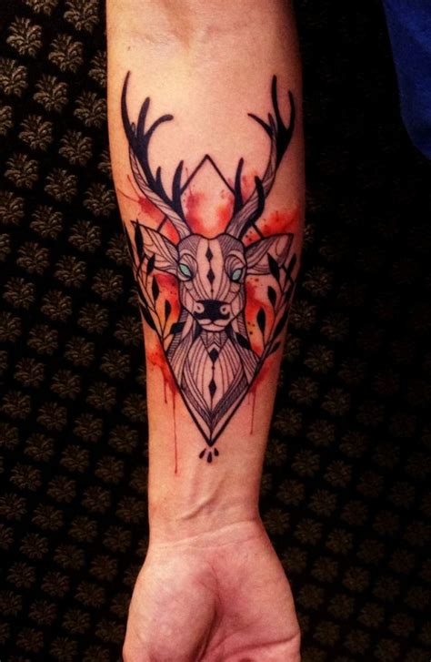 tattoo geometric deer 59 best geometric deer tattoos