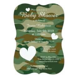 camo baby shower invitations templates army camo baby shower invitations with hearts zazzle