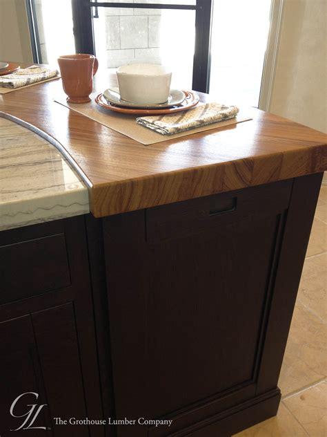 custom teak wood countertop in denver colorado by grothouse