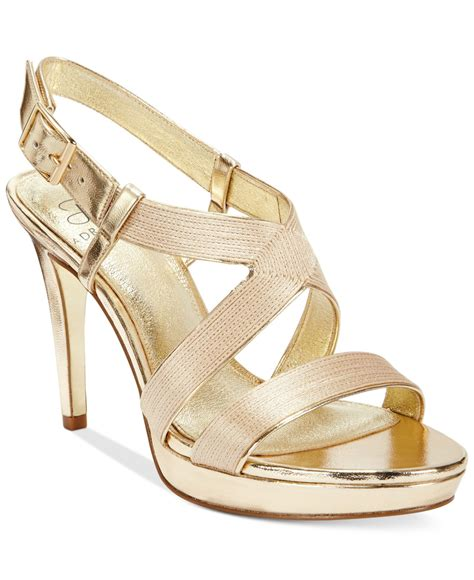gold evening sandals papell evening sandals in floral gold lyst