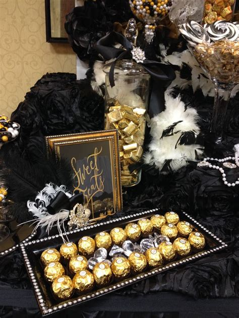 black and gold buffet ls sweet treats candy buffet by sweet girls candy buffet