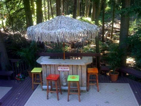 Backyard Tiki Bar Ideas Small Tiki Bar Outdoor Ideas Pinterest