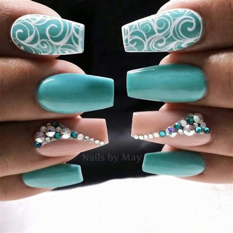 teal color nails best 20 teal nail designs ideas on pretty
