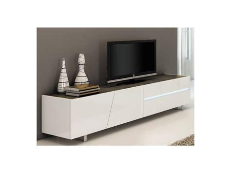 Meuble Tc by Meuble Tv Isaline I Ii 3 Portes 1 Tiroir Laqu 233 Blanc