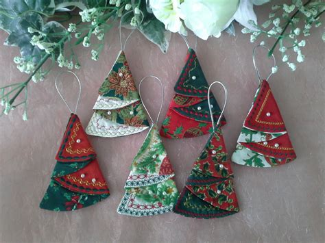 ew020 fabric folded christmas trees embroidery weekly