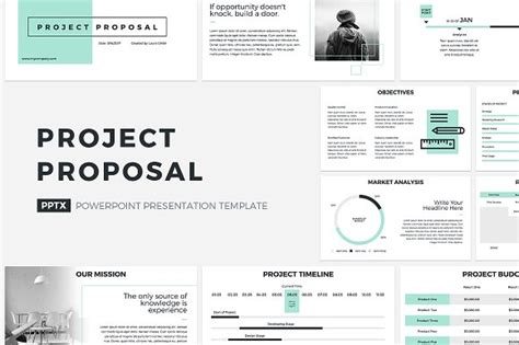 Project Proposal Powerpoint Template Presentation Templates Creative Market Simple Ppt Templates For Project Presentation