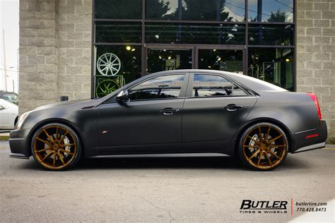 Cadillac Custom Wheels by Cadillac Cts V Custom Wheels Savini Bm12 22x Et Tire