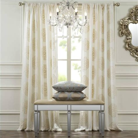 extra long cream curtains windsor medallion curtain drapery panels