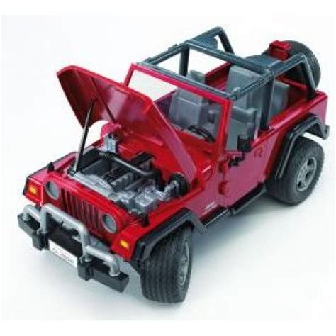 red toy jeep bruder jeep wrangler unlimited cars kids jeep red