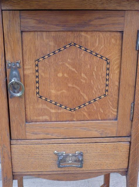 arts and crafts cabinet arts and crafts inlaid cabinet in golden oak antiques atlas