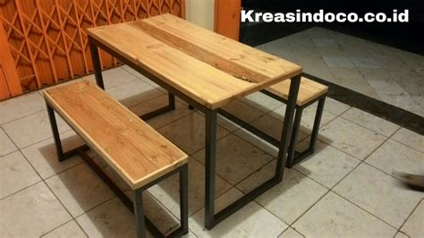 model meja kantin besi tatakan kayu keren dapatkan harganya disini kreasindococoid