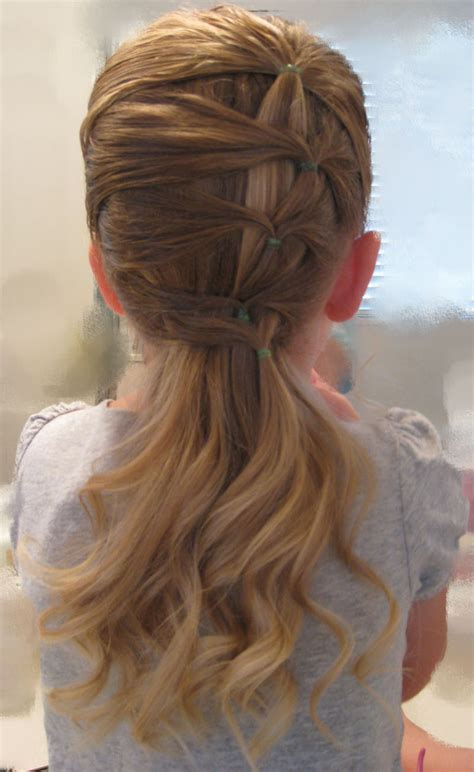Darling Ponytail Hair | fancy row of ponytails it was so easy and quick looked