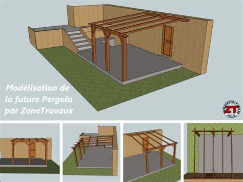 Construire Une Pergola En Bois 1551 by Pergola Dossier 2 D 233 Coupe Et Installation Des Poteaux Et