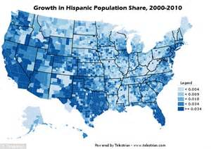how many towns are in the us census maps show black and hispanic population centred in