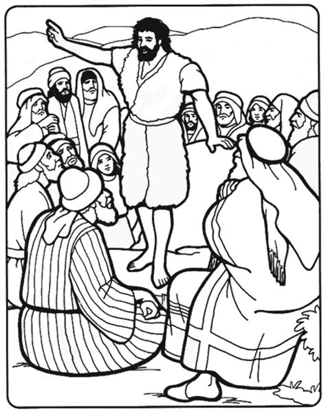 coloring pages john the baptist birth san juan bautista para colorear imagui