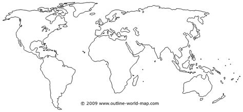 world map template world map outline printable