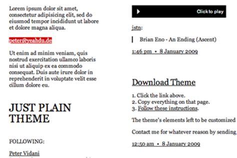 themes tumblr plain just plain theme