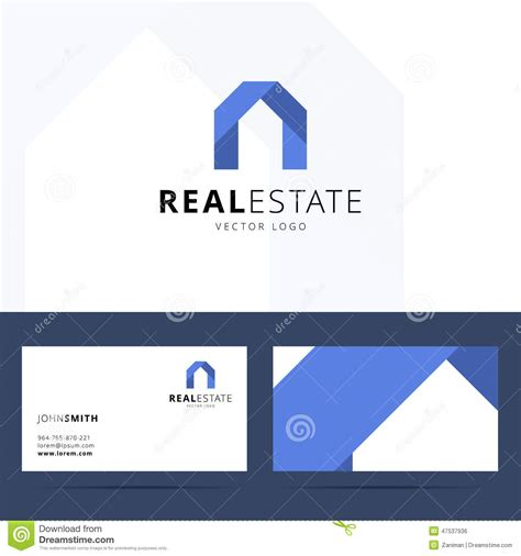 Card With Logo Template by Real Estate Logo Template Stock Vector Image 47537936
