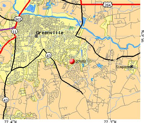 greenville nc zip code map zip code map