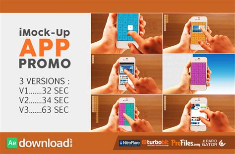 after effects free promo templates imock up app promo videohive free download free