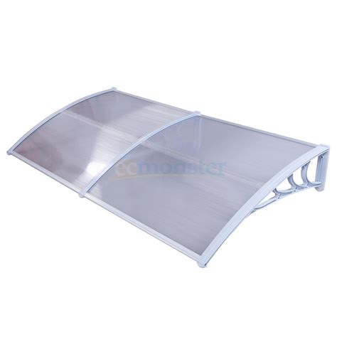 polycarbonate door awning 40 quot x 80 quot outdoor polycarbonate front door window awning