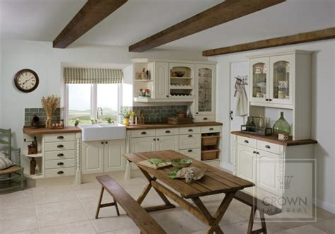 good Cream Country Style Kitchens #1: Country-Kitchen-Oyster.jpg