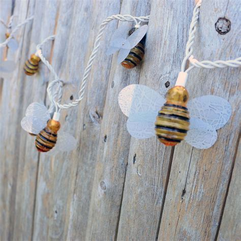 bumble bee string lights honey bee string lights 10 lights