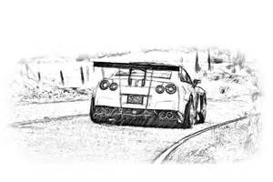 How To Draw A Nissan Gtr Nissan Gt R Gt3 Pencil Drawing A Nissan Gtr Gt3 Racer