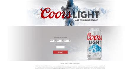 Coors Light Sweepstakes - coorslightgameready com coors light football 2015 sweepstakes