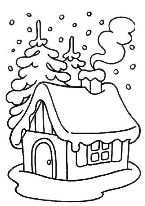 coloring pages of christmas houses xmas coloring pages