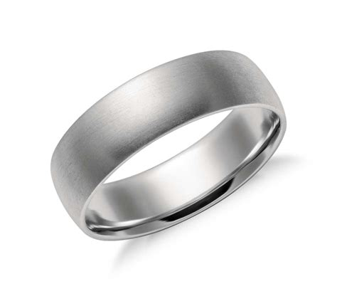 Comfort Wedding Bands by Matte Mid Weight Comfort Fit Wedding Band In Platinum 6mm