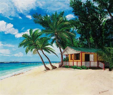 peinture bateau 2894 peinture sur une plage des 238 les