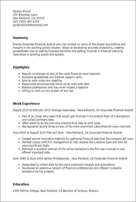 sle financial analyst resume financial analyst resume summary 28 images financial