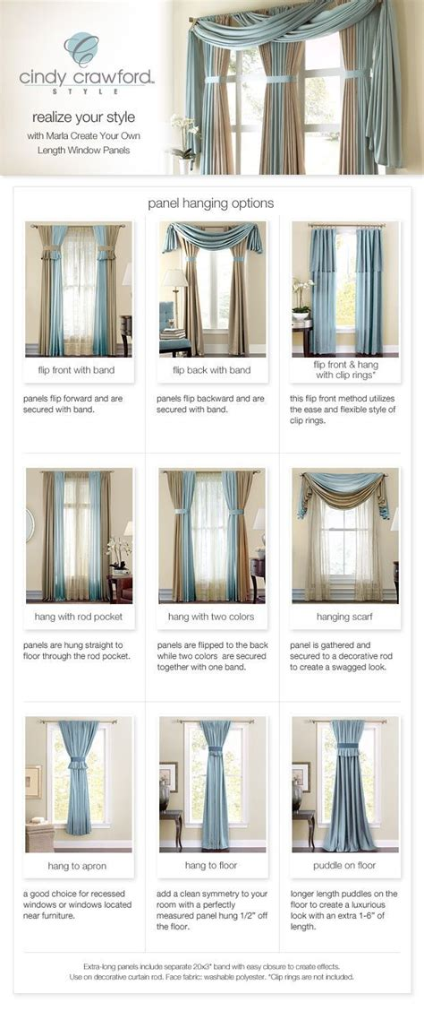 different styles of hanging curtains curtain panel hanging options style on a budget