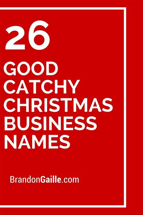 26 good catchy christmas business names best catchy