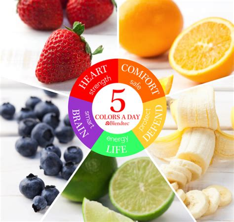 healthy colors 5 colors a day healthy concepts