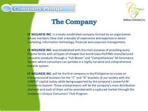 Information Technology Company Profile Template by Cf Wellness Company Profile Presentation
