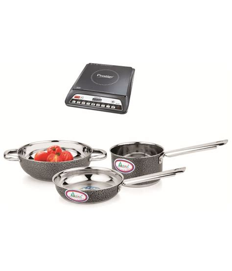 induction stove pots prestige pic 20 0 induction cooktop and induction base color coated cookware ebay
