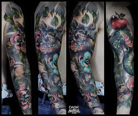 colorful sleeve tattoos 28 colored sleeve tattoos