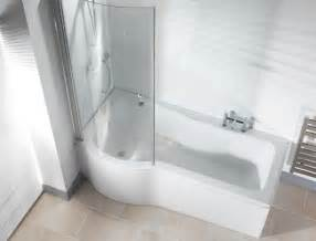 P Shaped Shower Bath Curved Return Screen For P Shaped Shower Bath Ebay