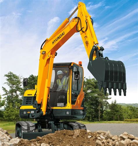 Alat Berat Hyundai Hyundai Excavators R55 9 Alat Berat R55 9 Midi Excavator