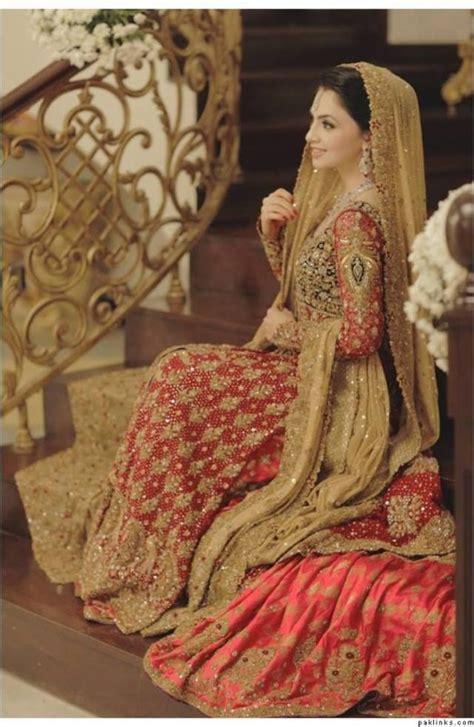 Best 2 Color Combination by Pakistani Bridal Dresses Design 2017