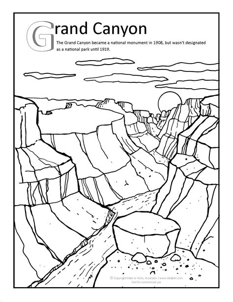 Grand Canyon Coloring Page At Gilaben Com Arizona Arizona Coloring Page