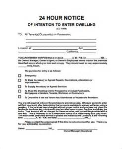 Resignation Letter 24 Hour Notice by Sle Notice Letter 21 Documents In Pdf Word