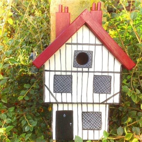handmade tudor house bird box birdhouses