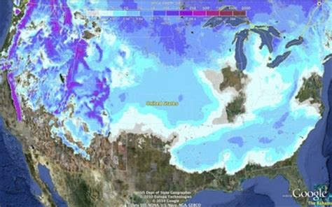 snow cover map united states just south of a northwest sports outdoor adventure