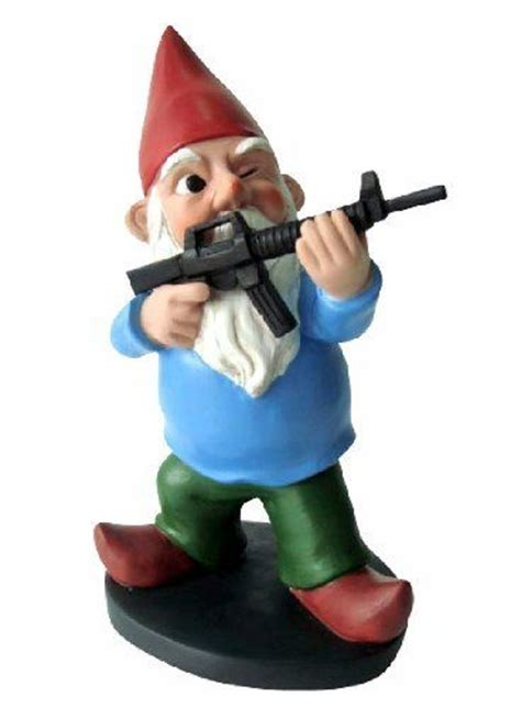 garden gnomes with guns gnome with a gun military gnome funny garden gnome